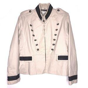 Vtg Newport News Sz 16 Tan Military Jacket Blazer